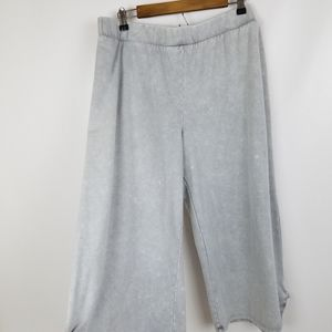 Active brand pants size XL grey color palazzo wide